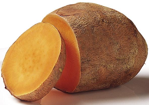 Peeling sweet potatoes