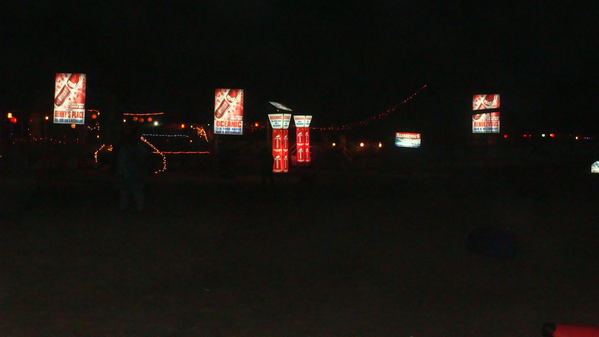 Goan shacks in night