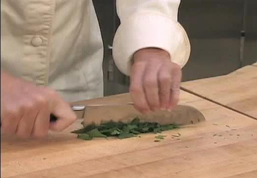 The Chef's style of chopping parsley