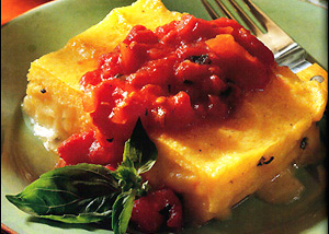 Polenta Tomato Sauce Recipe by Halburt | iFood.tv
