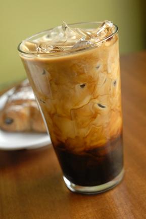 Cafe latte milkshake