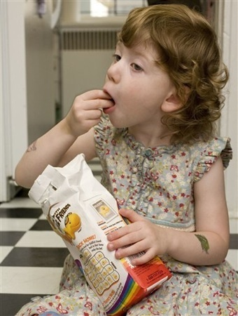 Kids learn from what they see- keep junk food away