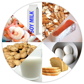 Different types of food causing allergies