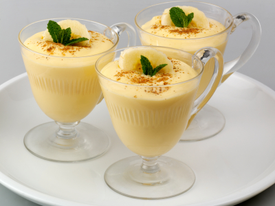 Banana Custard Pudding Recipe by Swatym | iFood.tv