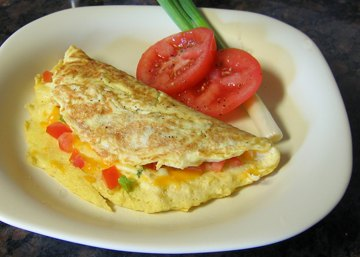 Shrimp And Cheddar Cheese Omelet