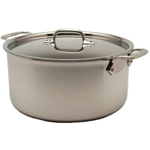 Common type of stock pot made from stainless steel
