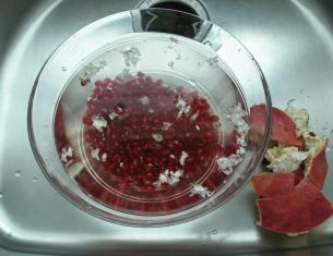 Clean pomegranate