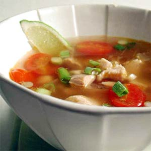 Caldo is a chicken and vegetable soup - famous Mexican dish