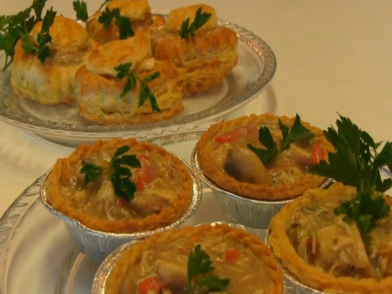 Betty S Creamed Chicken In Puffed Pastry Shells Recipe Video By Bettyskitchen Ifood Tv