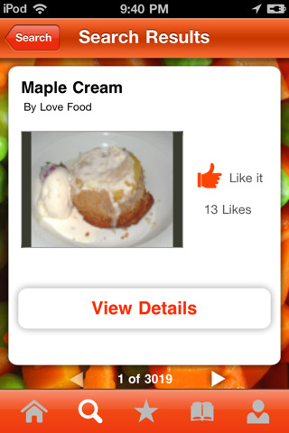 ifood.tv iphone app search result