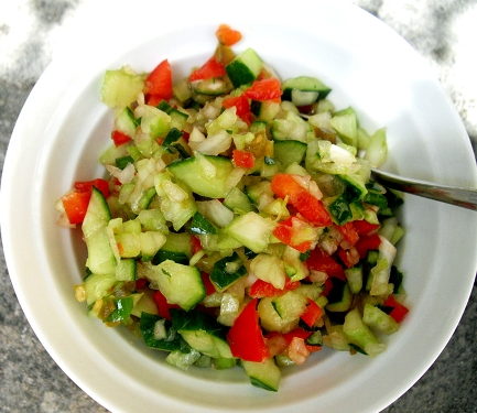 raw vegie salad