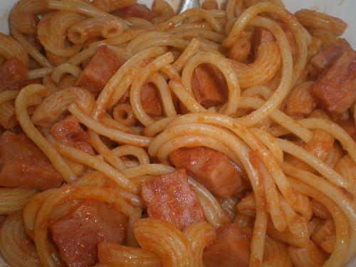 Spaghetti with Spam Meat