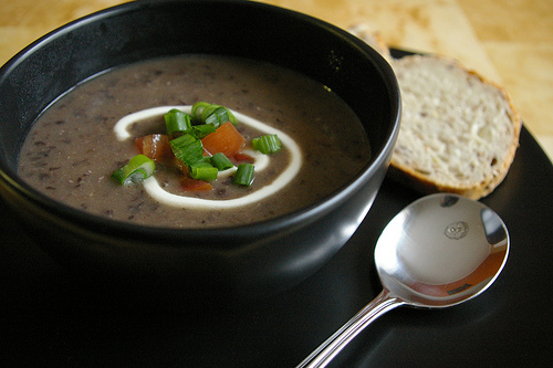 A Yummy Black Bean Soup Just waiting to be relished