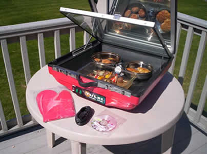 Solar ovens are specially good for slow cooking