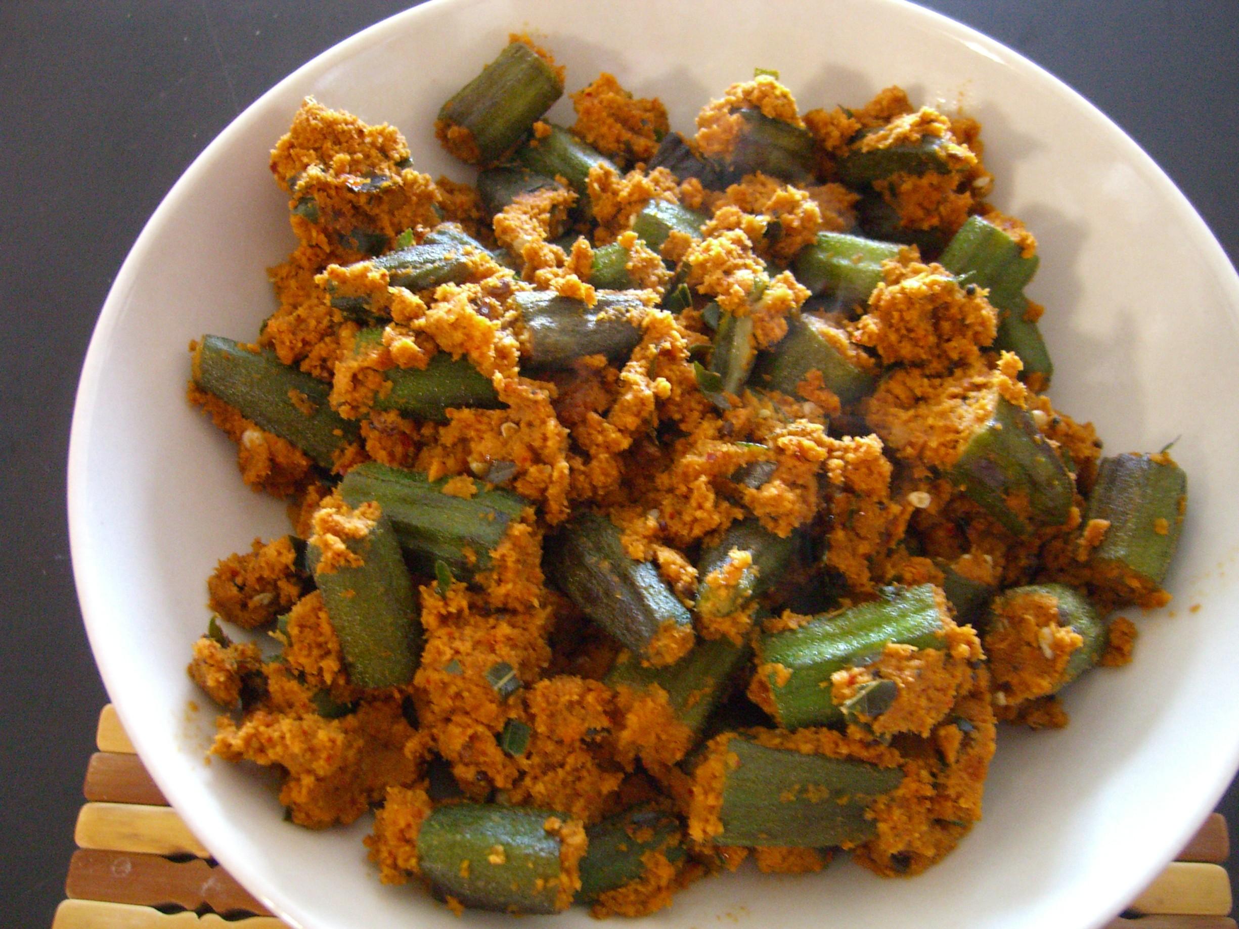 Bhindi Sagle Recipe Okra Curry By Sarita Bhandarkar