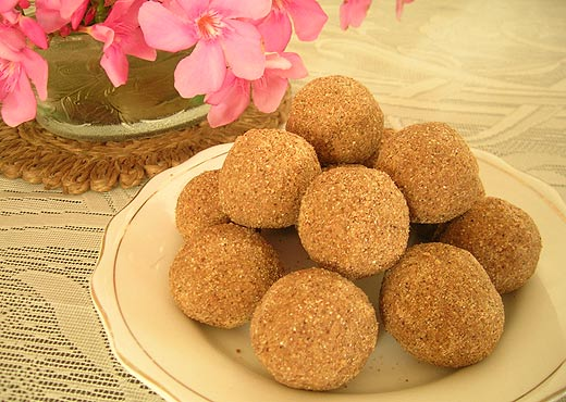 Sumptuous and mouthwatering ghee laddu