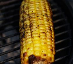 Cook corn on gas grill