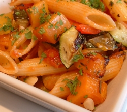 penne made from a great vegetarian italian cookbook