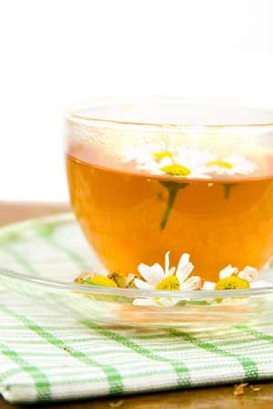Drinking camomile tea for diabetes
