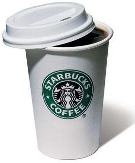 A cup of Starbucks coffee