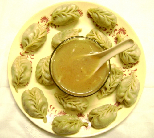 Momos with soup