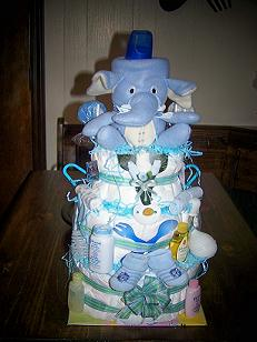 Elephant Cake For Baby Shower