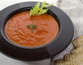 Roast Plum Tomato Soup With Fresh Basil - Fresh Tomato Starters