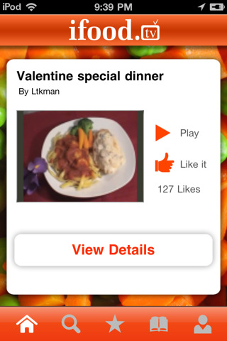 ifood.tv iphone app screenshot