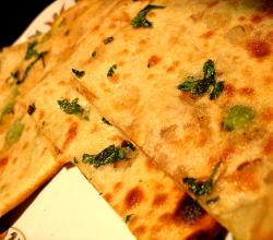 Indian flat bread stuffed with shredded radish