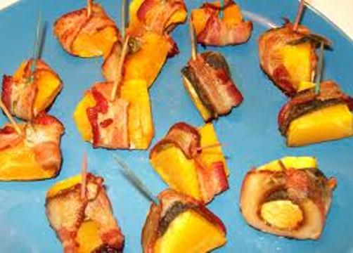Yummy bacon squash appetizer