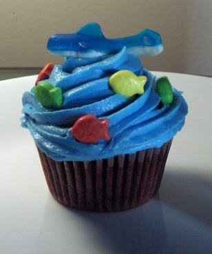 Fish Candy Cupcake