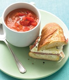 Gazpacho is Typically eaten with a piece of local bread