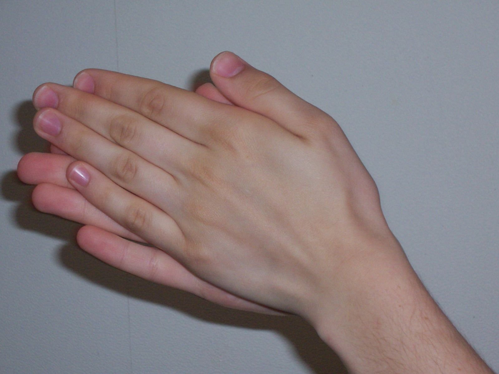 Rubbing hands