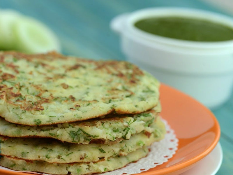 Cucumber Soya Pancake (Healthy Breakfast) Recipe Video by ...