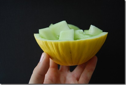 Breakfast bowls made from melon are always healthy