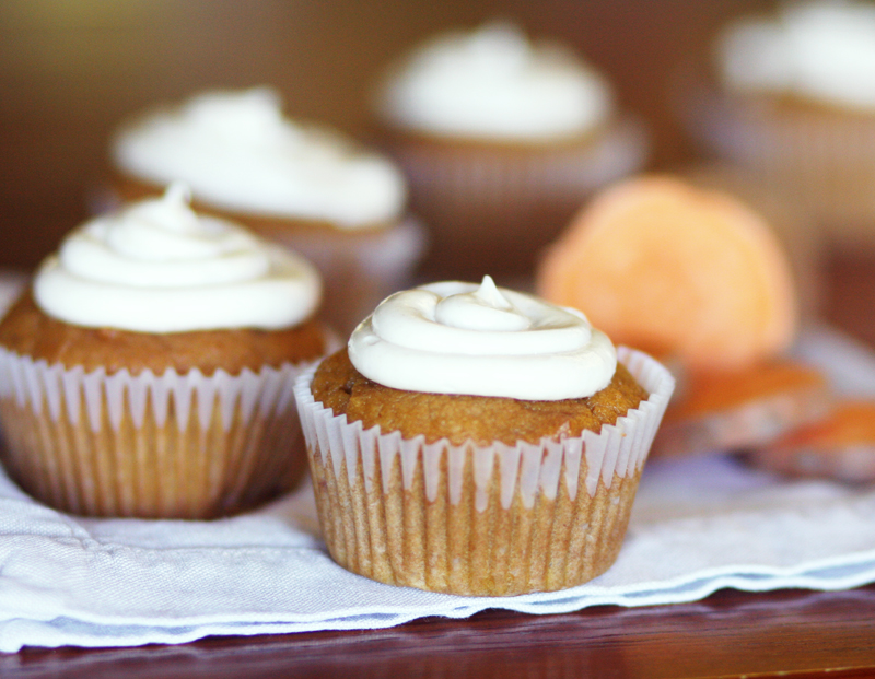 Spicy Orange Sweet Potato Cupcakes