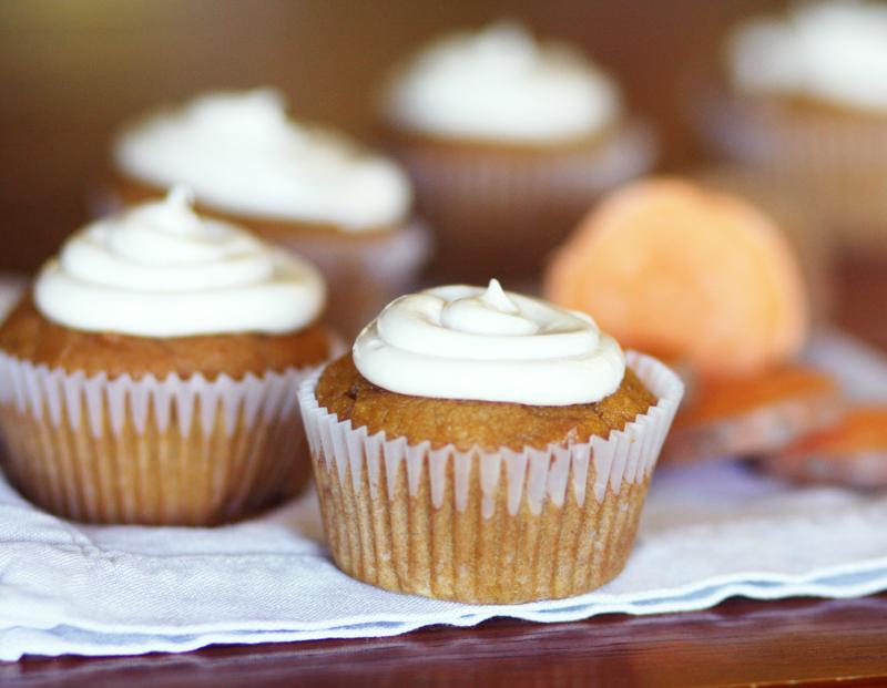 Spicy Orange Sweet Potato Cupcakes