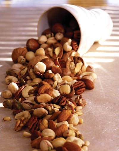 Nuts are not only rich in Niacin but also contain other triglyceride reducing nutrients