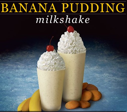 Milkshake With Banana Pudding
