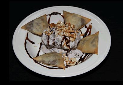 Chocolate Pudding Samosa