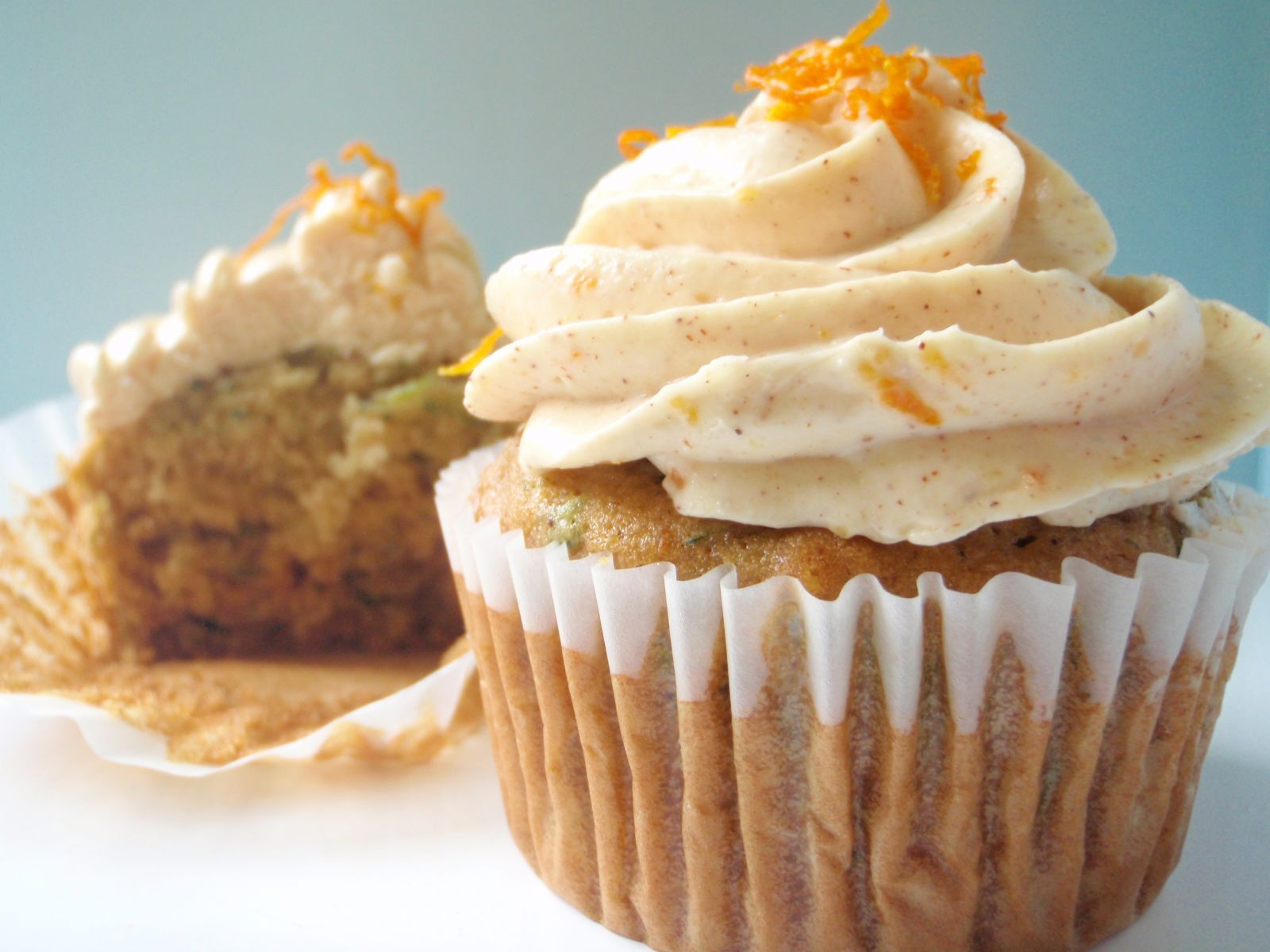 Zucchini Cupcakes With Orange-Spiced Cream Cheese Frosting