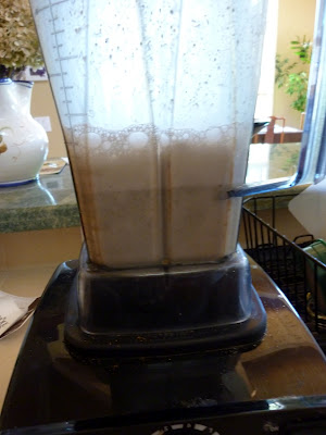Making of hemp milk by blending the seeds