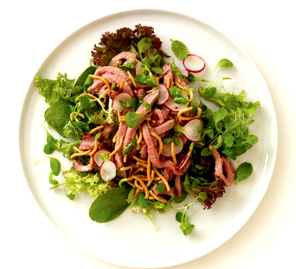 Ginger Beef Salad - A Yummy Side Dish In Cinco De Mayo Menu