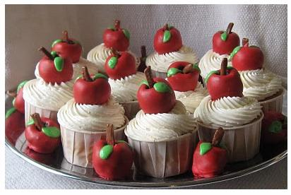 Easy Apple Cupcake Ideas