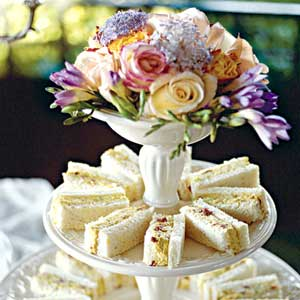 Tea sandwiches are very common in summer weddings