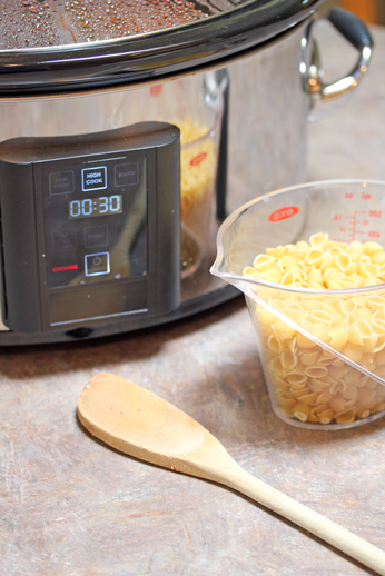 Pasta in slow cooker