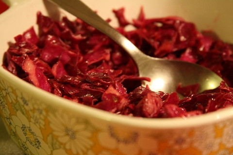 Red cabbage Chinese dish