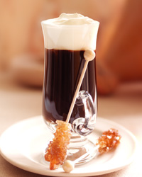 Refreshing glass of Irish Coffee