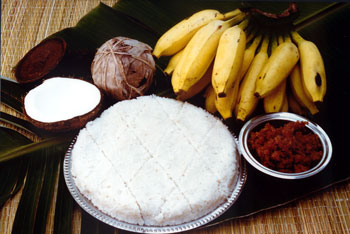 Kiri Bhat or coconut milk rice from Sri Lanka