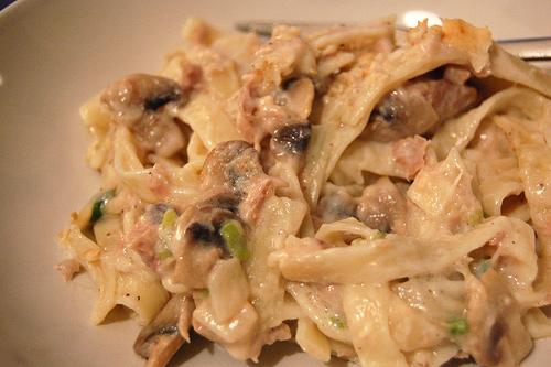 The Tuna Noodle Casserole is a complete meal